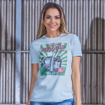 Camiseta Feminina Retrô Movie