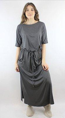 Vestido Ombro Cinza