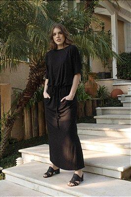 Vestido Ombro Preto