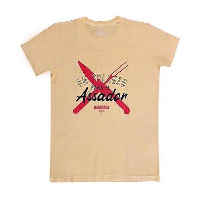 Camiseta Bárbaros Un Aplauso para el Assador Amarela