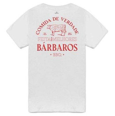Camiseta Bárbaros Comida de Verdade Branca
