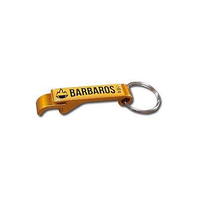 Chaveiro Abridor Bárbaros BBQ Dourado