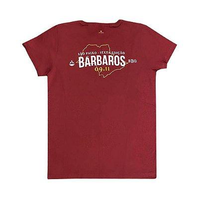 Camiseta Bárbaros BBQ São Paulo Vinho