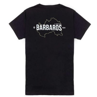 Camiseta Bárbaros BBQ Campinas Preta