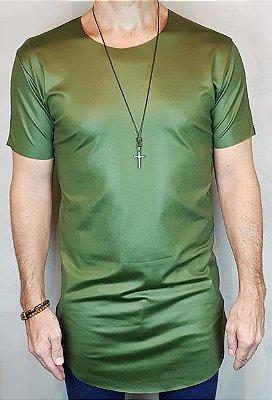Camiseta Longline Teselli by Totanka Linha Premium Verde