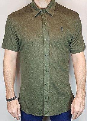 Camisa Teselli Algodão Retilíneo by Zip Off Verde