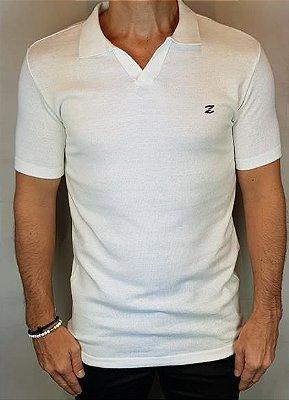Camisa Polo Teselli by Zip Off Algodão Retilíneo Branca