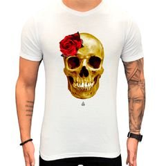 Camiseta Teselli by Paradise Caveira Branca