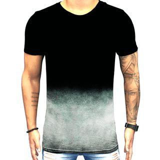 Camiseta Teselli by Paradise Degrade Preta