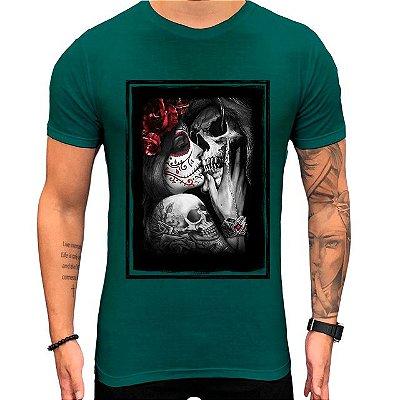 Camiseta Teselli by Paradise Death Verde Long