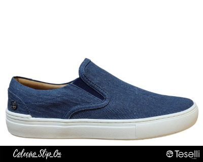 Slipon Teselli Klussel Canvas Azul