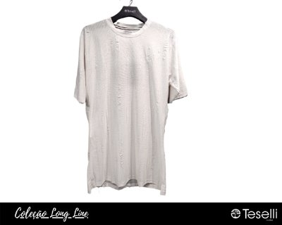 Camisa Long Line Totanka Riviet Branca Premium