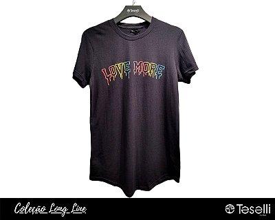 Camisa Long Line Totanka Love More Preta Premium