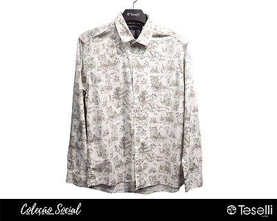 Camisa Social Linho com Elastano Premium