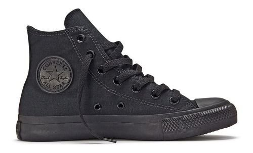 Tênis Converse All Star Ct As Monochrome Hi Preto Ct04470002