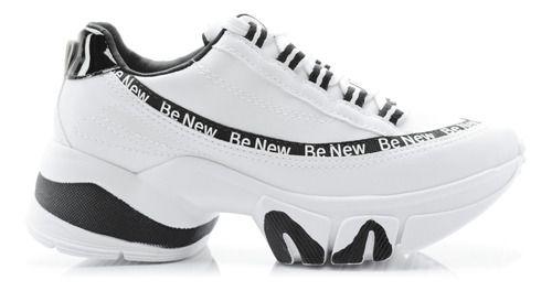 Tênis Ramarim Sneaker Be New Feminino Branco/preto 2080104