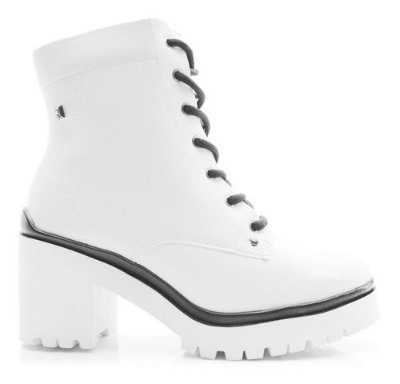 Bota Coturno Ramarim Ankle Boot Branco 2050103