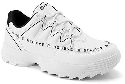 Tênis Ramarim Sneaker  Feminino Branco/Preto 2175102
