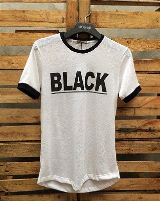 Camiseta BW Black Viscolinho Branca 10140885