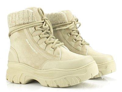Bota Coturno Ramarim Sneaker Boot Bege 2186132