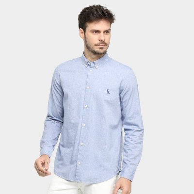 Camisa Sport Reserva Oxford M/L Color Azul 3574
