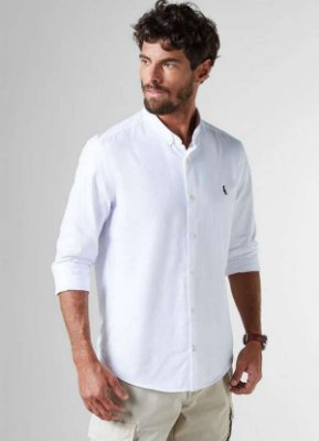 Camisa Sport Reserva Oxford M/L Color Branco 3574