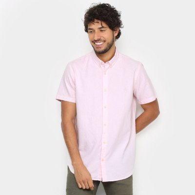 Camisa MF Reserva Oxford Color Rosa 46782