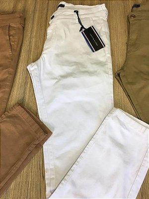 Calça Alfaiataria Tommy Hifilger Slim Fit Branco