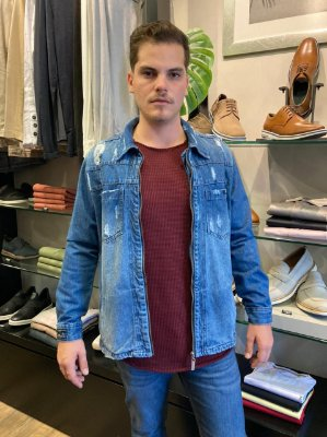 Jaqueta Austin Jeans Destroyed C/ Ziper 16339