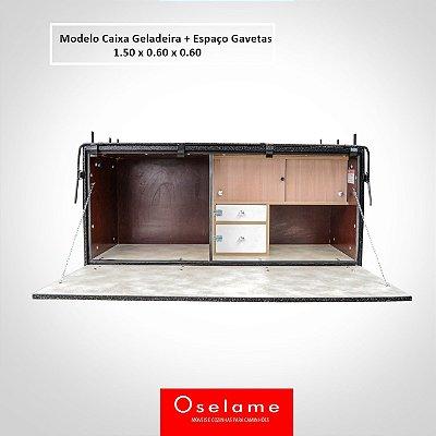 Caixa de cozinha geladeira + 2 gavetas