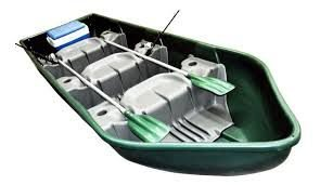 Barco pesca 3 lugares 2 remos