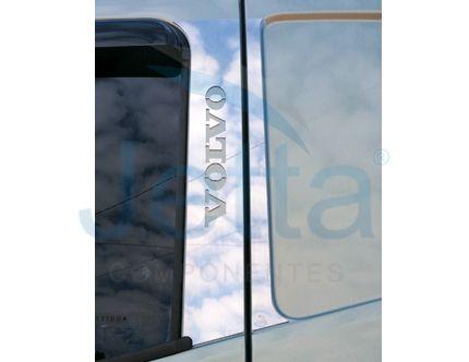Aplique em Inox para Coluna Volvo FH