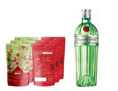 Kit Fruits&Tonic (G&T): Gin Tanqueray Ten + 15un Pitaya com Morango