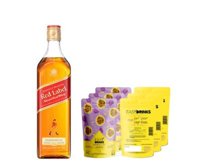 Kit Highball + Johnnie Walker Red Label + 15un Maracujá