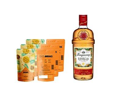 Kit Fruits&Tonic (G&T): Gin Tanqueray Sevilla + 15un Frutas Tropicais
