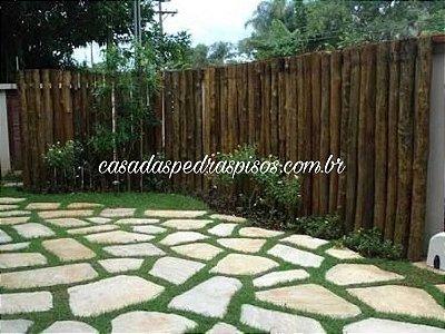 Cacão de pedra São Tomé para piso e caminho no jardim