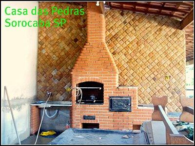 PEDRA MADEIRA AMARELA / MARROM 11,5X11,5 ALMOFADADA