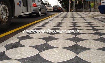 Piso calçada padrão Sorocaba 20x20