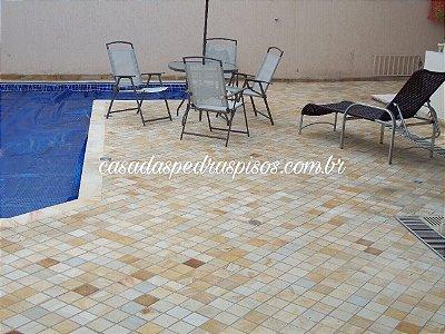 Arenito amarelo 10x10 piso
