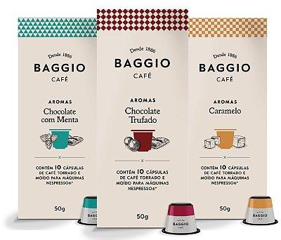 Kit Baggio Aromas Degustação - 90 Cápsulas