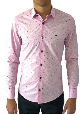 Camisa Social Slim Fit 100% Algodão