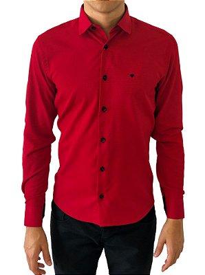 Camisa Social Slim 100% Algodão