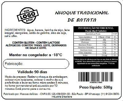 Impressão de Rótulo para alimentos CONGELADOS - TAM 10X5