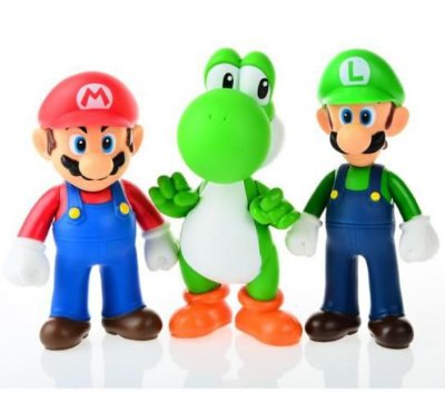 KIT Boneco Super Mario Size Figure Collection