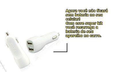 CARREGADOR FAVIX COM DUAS SAÍDAS USB