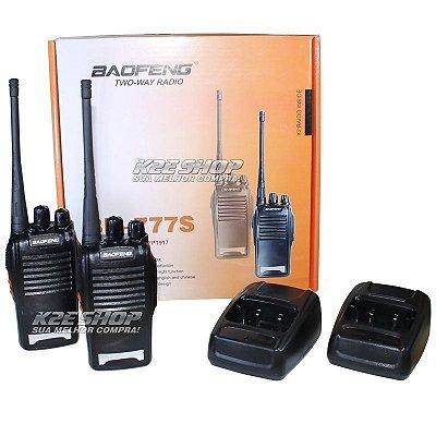 Rádio Comunicador Walk Talk Baofeng 777s+ Fone