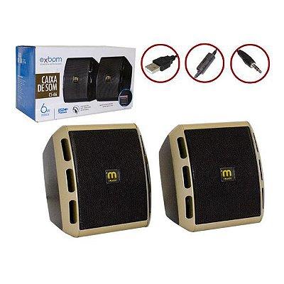 Caixa De Som Para PC MODELO Cs-66 usb p2