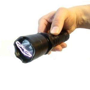 Lanterna Shock Choque Recarregável Led Taser Defesa Pessoal