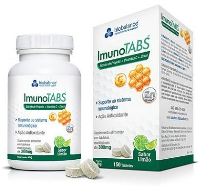 IMUNOTABS 150 TABLETES C/ SABOR LIMAO - BIOBALANCE