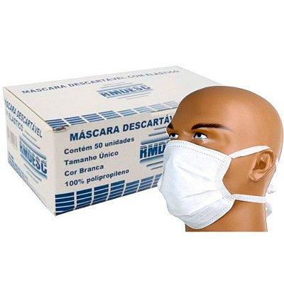 MASCARA TRIPLA C/ TIRAS BRANCA CX C/ 50UN - RMDESC